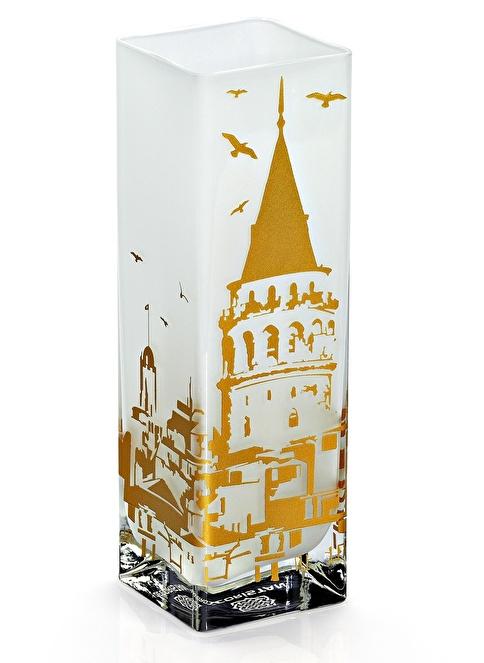 Decoristan Galata Prizma Vazo Altın